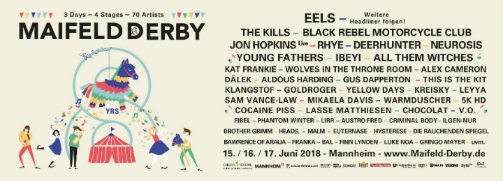 Zweite Bandwelle bringt THE KILLS, BRMC, NEUROSIS, RHYE, JON HOPKINS, uvm. aufs 8. Maifeld Derby