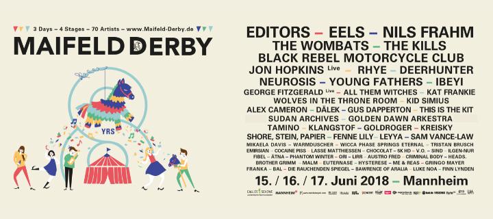 Timetable und weitere Bands für das achte Maifeld Derby veröffentlicht!